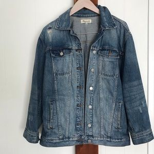 Distressed jean jacket by Madewell
